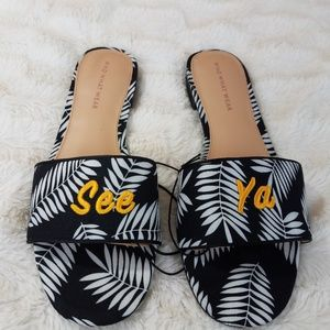 1c3ef1659 Who What Wear Target See Ya Slides Black White 8